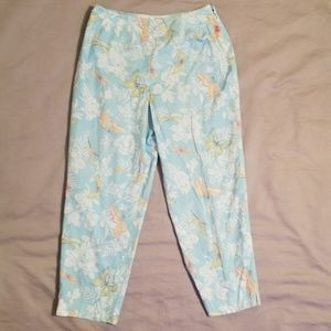 Talbots Petites Butterfly Dragonfly Crop Pants 8